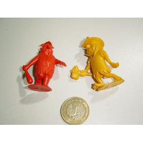 Figuras Picapiedra En Plástico Una Está Quintada, Dos Piezas