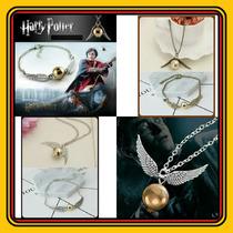 Lote 7 Juegos Collar/pulsera Harry Snitch Dorada/plateada