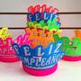 Corona Neón 15 Años Feliz Cumpleaños Hora Loca Fiestas X12