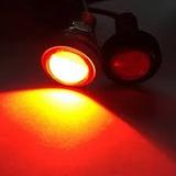 Luz Led Rojo Ojo De Aguila 23mm 12v,9w,aluminio P/auto-moto