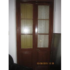 Puerta doble hoja madera lisa para interior aberturas for Puertas doble hoja interior madera