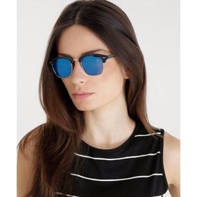 Óculos De Sol Escuro Feminino Espelhado Preto Marca Famosa