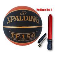 Pelota De Basquet Nba Tf 150 Perform Black Spalding N7 N5