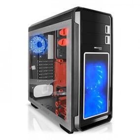 Case Gamer Micronics Fisker Led Azul Ventana Lateral 2.0 3.0