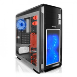 Case Gamer Micronics Fisker Led Azul Ventana Lateral 2.0 3.0