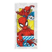 Toalha Felpuda De Banho Estampada Spider Man 60 Cm X 1,20 M