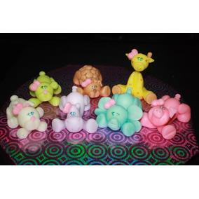 adorno de torta animalitos en porcelana fra