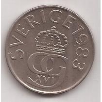 Suecia Moneda De 5 Kronor Año 1983