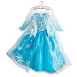 Fantasia Vestido Frozen Elsa Lindo Brinde Coroa Frete Grátis