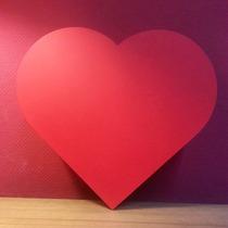 Caja Corazón Mdf Fibrofácil Pintada. Unica. Fabricantes