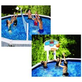 Enfriar Jam Combo Baloncesto / Voleibol Juego Para Piscinas