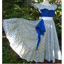 Traje Pollera Folclore M L + Blusa +pañuelo + Lazo,vestido