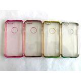Capa Iphone 6s 6 Silicone Brilho Glitter Case+pelicula Vidro
