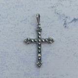 Pingente Crucifixo Prata 925 E Marcassitas