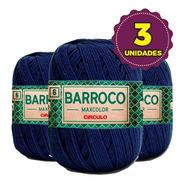 Barbante Barroco Maxcolor 400g N6 2856 Anil Profundo