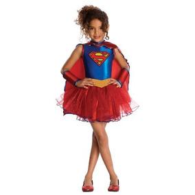Supergirl Vestido Tutú Justicia Liga Infantil - Medio