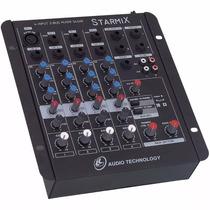 Mesa De Som 4 Canais Starmix Ll Audio S402r King Musical