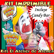 Kit Imprimible Piñon Fijo Invitaciones Golosinas - Editable