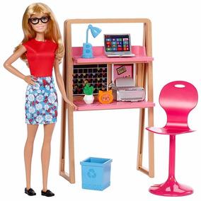 Barbie Acessorios Casa Escritório Moveis Boneca Lançamento