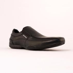 Zapato De Hombre De Cuero Negro Stone