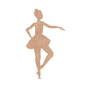 Recorte Bailarina Mdf 6mm Cru 50cm Aniversário Menina Painel
