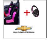 Capa De Banco Rosa + Capa Volante P/ Chevrolet Meriva 2011