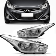 Par Farol Cromado Hyundai Hb20 2012 2013 2014 2015