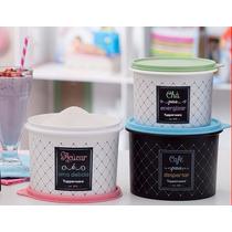Tupperware Kit Caixa De Mantimento Bistrô 9 Produtos+brinde