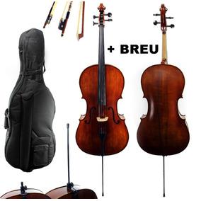 Cello Violoncelo Konig Profissional Solid Wood 4/4