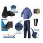 Kit Ropa De Trabajo Pantalon Cargo Camisa Botin Tipo Grafa