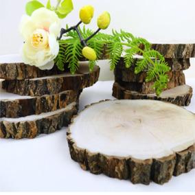 Rodajas 25 A 28 Cm Madera Natural Decorativas, Casa, Eventos