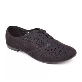 Sapato Casual Oxford Feminino Beira Rio Conforto Preto