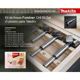 Set Mechas Para Madera Forstner 5 Piezas Makita D-47357
