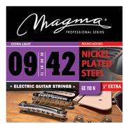 Encordado De Guitarra Electrica Magma 009 - 042 - Ge110n