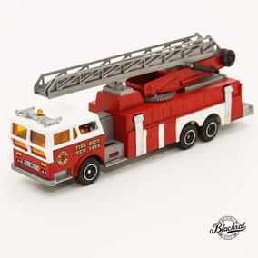 Miniatura Majorette 1/47 Incendie Nacelle Caminhão Bombeiro