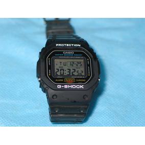 80827081156 Casio G-shock Dw 5600 Antigo Fundo Rosca Prata Muito Novo!