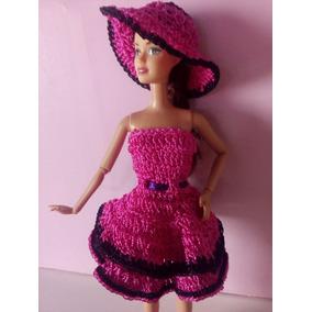 Vestido Pra Barbie Em Crochê