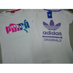 Camisetas adidas, Nike Y Puma Para Mujer Y Niño