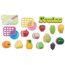 Hortifruti Frutas Comidinha Brinquedo C/ Velcro Crec Braskit