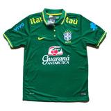 Camisa Brasil Cbf Nike Seleção Brasileira Polo De Entrevista