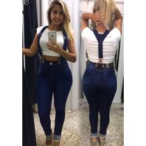 Calça Jeans Feminina Skinny Com Suspensorio Linda Barata