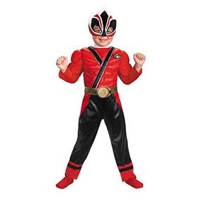 Power Rangers Samurai Niño Niños Red Ranger Muscle Traje 2t
