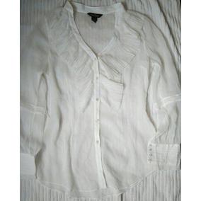 Camisa Saco Whbm Gasa Vestir Vuelos Entallada Transparencia