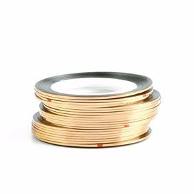 10 Fio De Ouro Fino Fita Adesiva Unha Decorada Cobre Bronze
