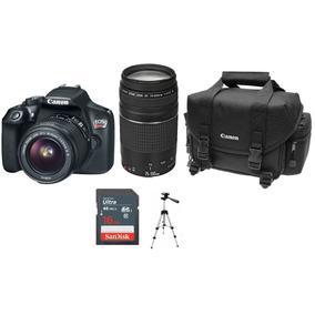 Canon Eos Rebel T6 Kit Maleta Lentes 18-55 + 75-300 + Msi