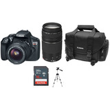 Canon Eos Rebel T6 Kit Maleta Lentes 18-55 + 75-300 + Msi