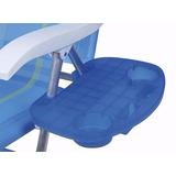 Mesa Portátil Suporte Copos Azul Para Cadeira De Praia Mor