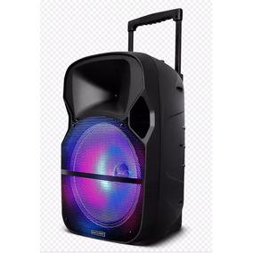 Caixa De Som Amplificada Trolley Led Bluetooth 150w Rms Mic