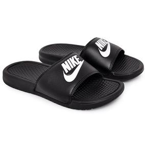 Chinelo Slide Nike Benassi 343880-090 Preto/branco