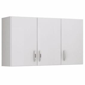 Armário Aéreo De Cozinha Suspenso 3 Portas - Branco